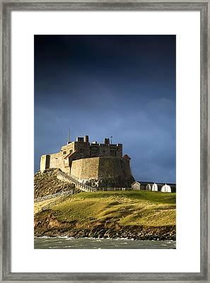 Lindisfarne Castle On A Volcanic Mound Framed Print by John Short