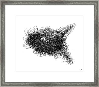 Line 1 Framed Print