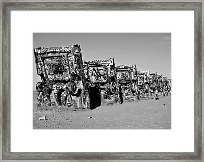 Line Up IIi Framed Print by Malania Hammer