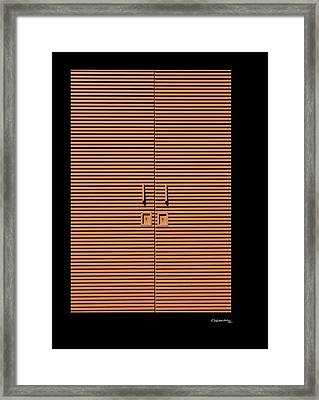 Lineal Composition Framed Print by Xoanxo Cespon