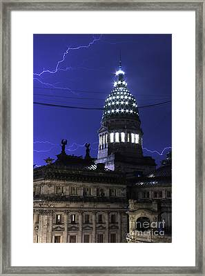 Lines Of Power Framed Print by Balanced Art
