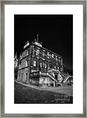 Linlithgow Burgh Halls On The Cross West Lothian Scotland Framed Print by Joe Fox