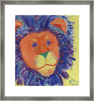 Lion Framed Print by Yshua The Painter