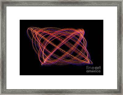 Lissajous Figure Framed Print
