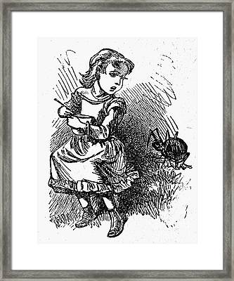 Little Miss Muffet Framed Print
