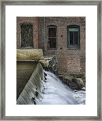 Framed Print featuring the photograph Little River Dam by Betty Denise