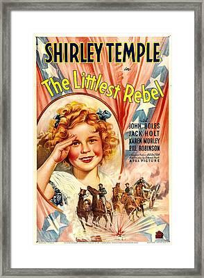 Littlest Rebel, Shirley Temple, 1935 Framed Print