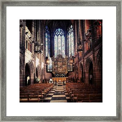 #liverpoolcathedrals #liverpoolchurches Framed Print by Abdelrahman Alawwad