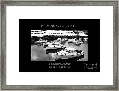 Lobster Boats Framed Print by Christy Bruna