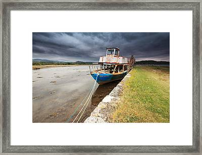 Loch Etive Jetty Old Boat Framed Print