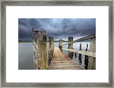 Loch Etive Jetty Framed Print by Fiona Messenger