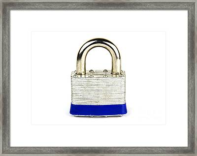 Lock Framed Print by Blink Images