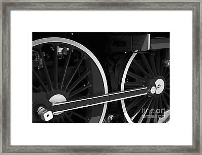 Locomotive Wheels Framed Print by Dariusz Gudowicz