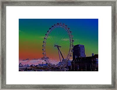 London Eye Digital Art Framed Print