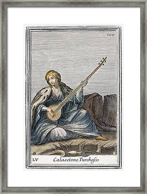 Long Lute, 1723 Framed Print