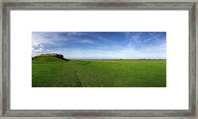 Longues Battery Framed Print by Jan W Faul