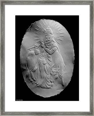 Lord Krishna Framed Print by Suhas Tavkar