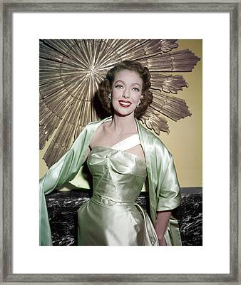 Loretta Young Show, Loretta Young Framed Print