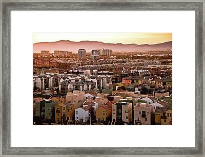 Los Angeles Vista Framed Print by Photo taken by Phong Ho