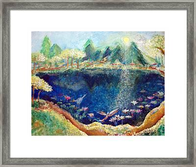 Lotus Lake Framed Print by Ashleigh Dyan Bayer