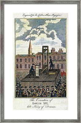Louis Xvi: Execution Framed Print by Granger