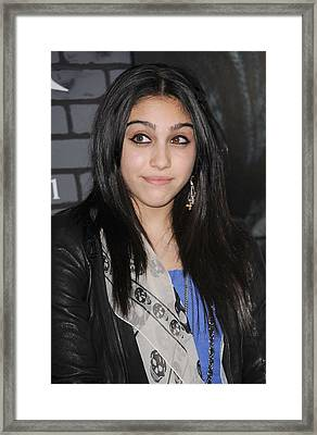 Lourdes Ciccone Leon At Arrivals Framed Print by Everett
