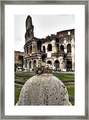 love locks in Rome Framed Print by Joana Kruse