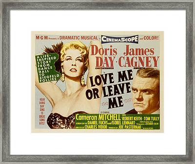 Love Me Or Leave Me, Poster Art, Doris Framed Print by Everett