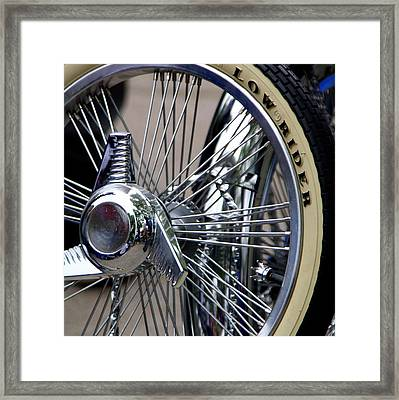 Low Rider And Silver Spokes - II Framed Print by Tam Graff