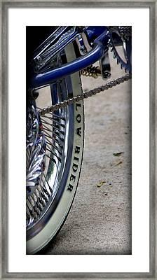 Low Rider In Blue Framed Print by Tam Graff