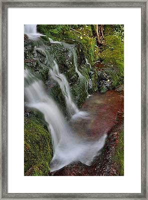 Lower Buttermilk Falls Framed Print by Stephen  Vecchiotti