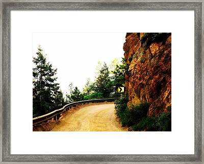 Framed Print featuring the photograph Lower Gold Camp Road  by Clarice  Lakota