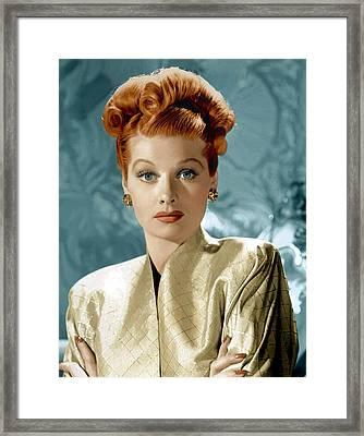 Lucille Ball, Ca. Mid-1940s Framed Print