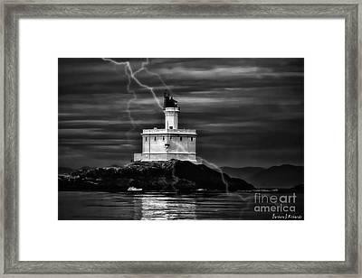 Lucy Island Lighthouse Framed Print