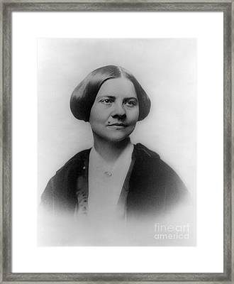Lucy Stone, American Abolitionist Framed Print by Photo Researchers