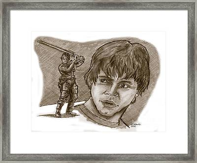 Luke Skywalker Episode V Framed Print by Chris  DelVecchio