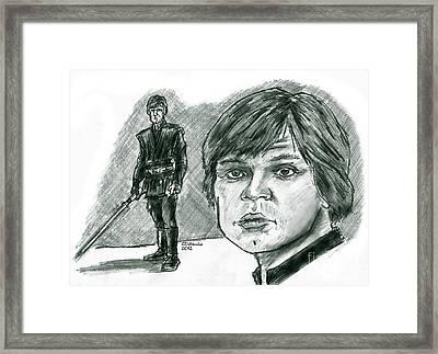 Luke Skywalker Episode Vi Framed Print by Chris  DelVecchio