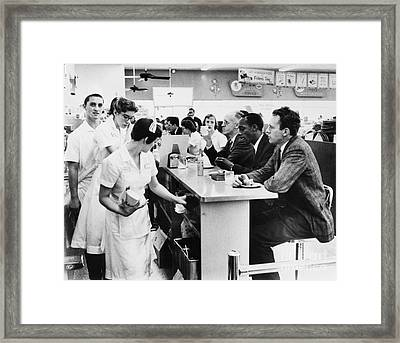 Lunch Counter Sit-in, 1960 Framed Print by Granger