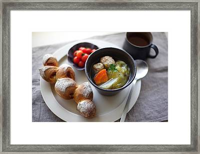 Lunch Time Framed Print by Cocoaloco