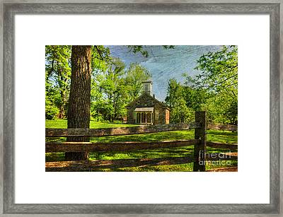 Lutz-franklin Schoolhouse Framed Print by Paul Ward