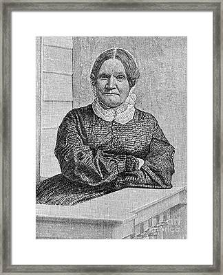 Lydia Maria Child (1802-1880) Framed Print by Granger