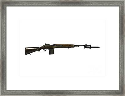 M14 Rifle, Developed From The M1 Garand Framed Print by Andrew Chittock