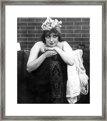 Mabel Normand, Ca. 1910s Framed Print by Everett