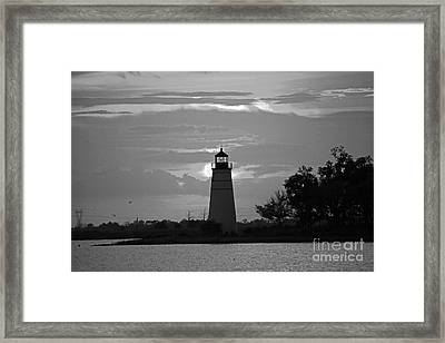 Framed Print featuring the photograph Madisonville Lighthouse Sunset by Luana K Perez