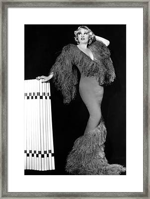 Mae West, Paramount Pictures, Ca. Early Framed Print by Everett