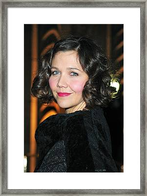 Maggie Gyllenhaal At Arrivals For The Framed Print by Everett