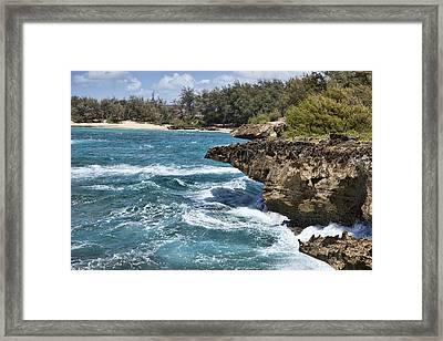 Mahaulepu Beach Framed Print by Kelley King