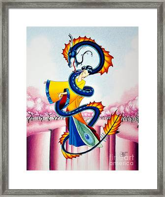 Maiden And Serpent Framed Print
