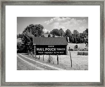 Framed Print featuring the photograph Mail Pouch Barn by Mary Almond