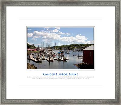 Maine Harbour Framed Print by Jim McDonald Photography